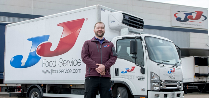 JJ Food Service, uses Sentinel Systems to improve vehicle safety.
