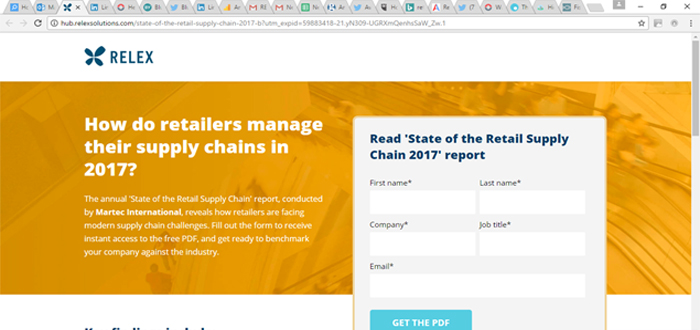 Martec & RELEX Solutions present 'State of the Retail Supply Chain 2017'.