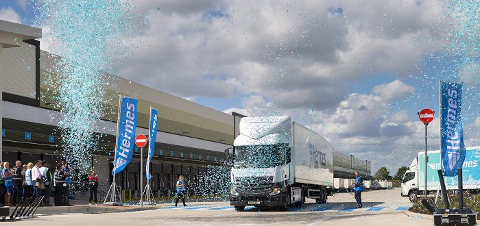 Hermes opens the UK's largest parcel hub.