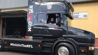 WMB Logistics Supply Scania for NFL 2017 at Wembley.