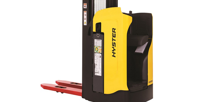 NEW HYSTER® RIDER STACKER TRUCK HELPS MANAGE VARIABLE DEMAND .