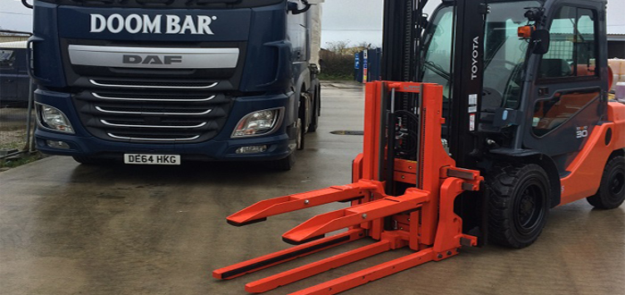 KAUP Keg Clamp Attachments Improve Productivity at Sharp's Brewery.